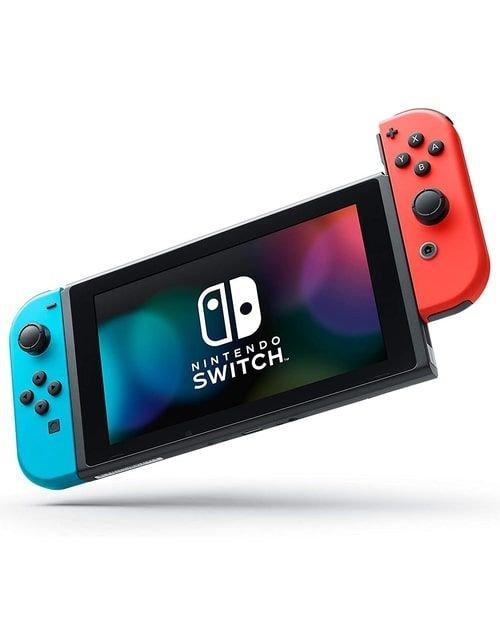 جهاز نينتندو سويتش للألعاب وذراعي تحكم، 32 جيجابايت، أحمر وأزرق