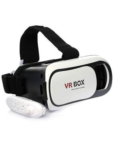 نظارات الواقع الإفتراضي ثلاثية الأبعاد VR02 بوكس, مع جهاز تحكم بلوتوث للألعاب