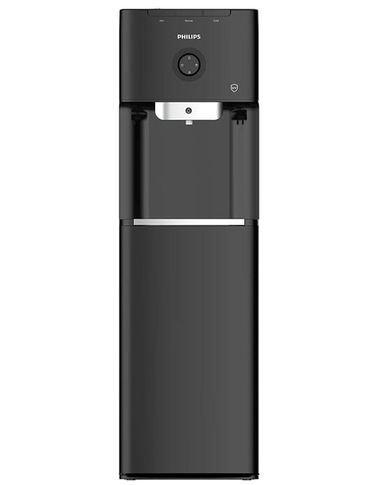 موزع مياه فيلبس تحميل سفلي، صنبور بارد وحار، مع تعقيم بالفلتر والأشعة فوق البنفسجية، أسود