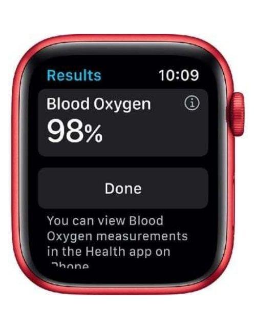 ساعة آبل 6 الذكية 40 ملم بشريحة GPS مع خاصية الاتصال، هيكل ألمنيوم أحمر، سوار أحمر رياضي