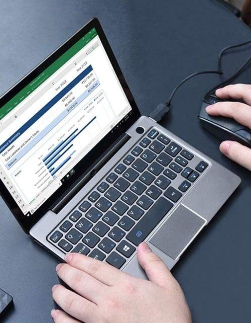 ميني لابتوب ديسديل P2 ماكس، 8.9 بوصة لمس، إنتل m3-8100Y، رام 16GB، قرص صلب 512GB، أسود