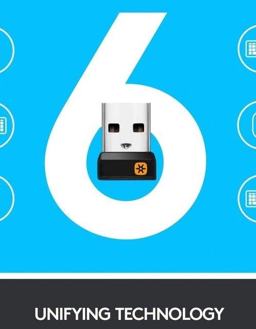 لوحة مفاتيح لوجيتك K400 اللاسلكية، لوحة لمس، توافق مع ويندوز واندرويد، أسود