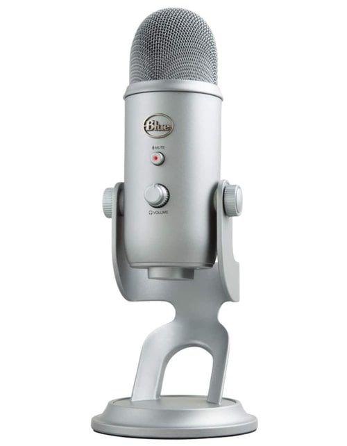 ميكروفون بلو يتي استديو USB، ثلاث كبسولات، أربع أنماط تسجيل، رمادي
