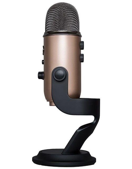 ميكروفون بلو يتي استديو USB، ثلاث كبسولات، أربع أنماط تسجيل، نحاسي