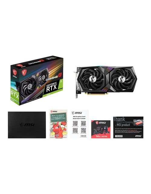 كرت شاشة MSI Gaming X Geforce RTX 3060، ذاكرة 12 جيجا بايت GDDR6، منفذ PCIe 4.0
