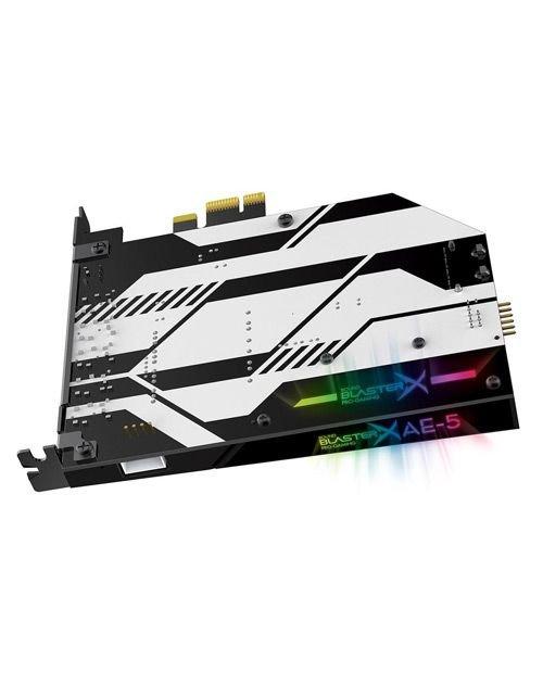 كرت صوت ألعاب كرييتف ساوند بلاستر اكس AE-5، أضواء RGB، منفذ PCIe