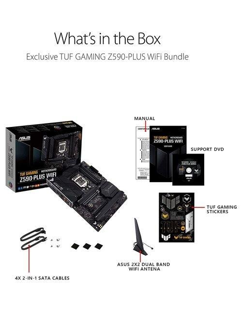 مذربورد ألعاب أسوس ROG Strix Z590-E، وايفاي، قياس ATX، معالجات إنتل الجيل 10/11