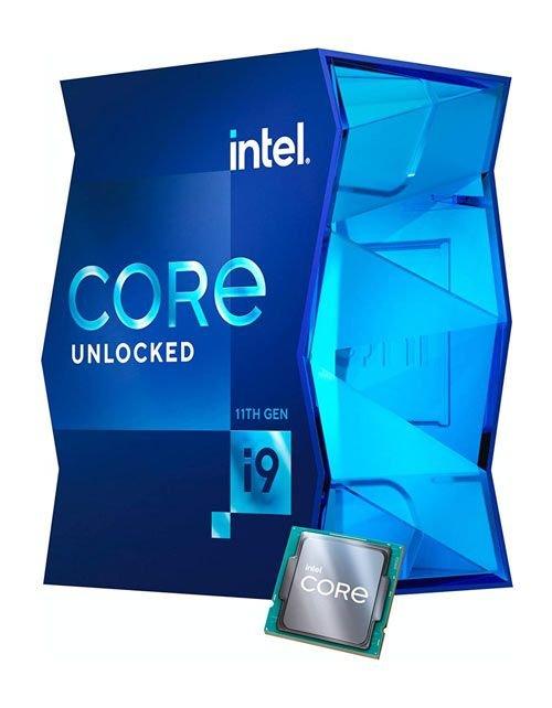 معالج كمبيوتر مكتبي إنتل كور آي 9 الجيل الحادي عشر i9-11900k، ثماني النواة، سرعة توربو 5.3 جيجا هرتز
