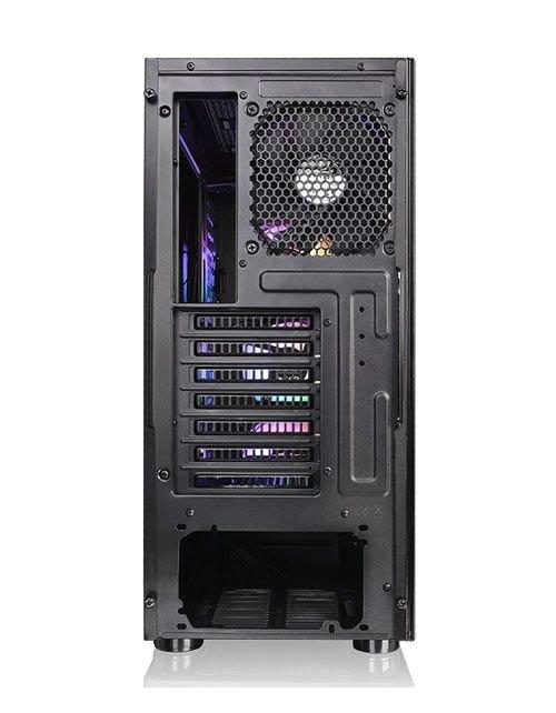 صندوق كمبيوتر ألعاب ثيرمال تيك Level 20 MT ARGB، ثلاث مراوح أمامية 120 ملم، زجاج، أسود