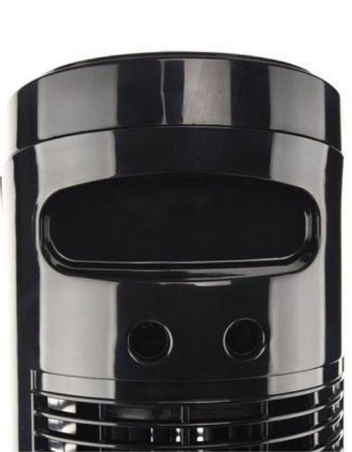 مروحة عمودية برج بلاك اند دكير، 50 واط، 3 سرعات، مع جهاز تحكم، لون أسود