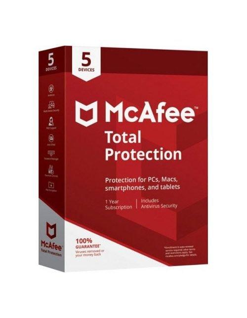 برنامج انتي فايروس مكافي توتال بروتكشن برو، كود رقمي، انجليزي عربي، مستخدم واحد، 5 أجهزة