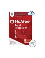 McAfee Total Protection Pro Digital, Software Serial , English and Arabic, 1 User, 5 Devices