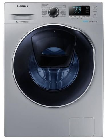 Samsung Front Load Fully Automatic Washer/Dryer Combo, 9kg, 1400 RPM, Silver