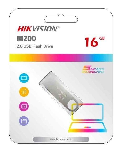 فلاش ميموري هيكفيجين M200 STD سعة 16 جيجابيات لون فضي