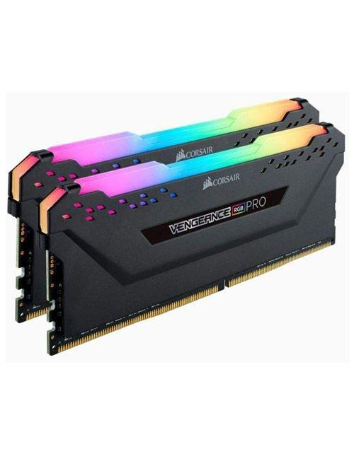 Corsair Vengeance RGB PRO 16GB (2 x 8GB) DDR4 RAM, 3200MHz C16 ,Black