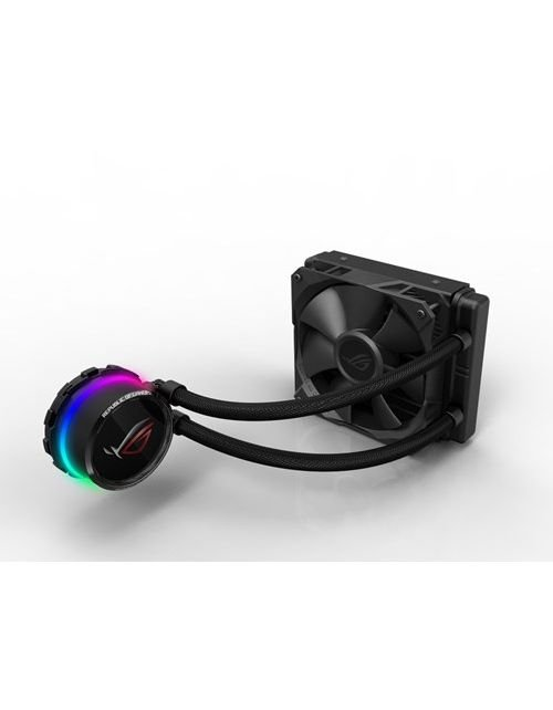مروحة كمبيوتر اسوس ROG Ryuo، قياس 120 ملم، شاشة OLED، اضواء RGB، تبريد مائي