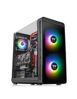 Thermaltake View 37 RGB PC Case, Tempered Glass, Mid Tower, 2 front Fans, Black