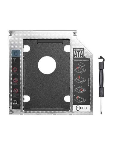 Second Caddy Drive for laptops, 2.5 Inch SATA, 9.5mm
