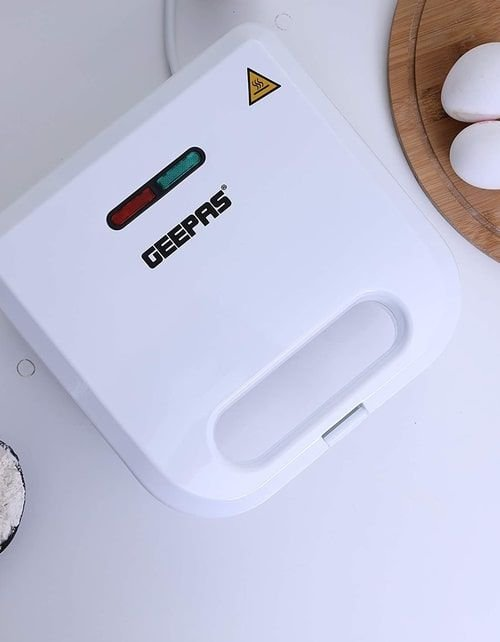 جهاز صنع الوافل جيباس، 800 واط، غير قابلة للالتصاق، لون أبيض