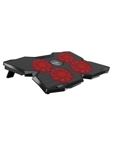 Promate Laptop Cooling Pad, 4 Fans, LEDs, Adjustable Height