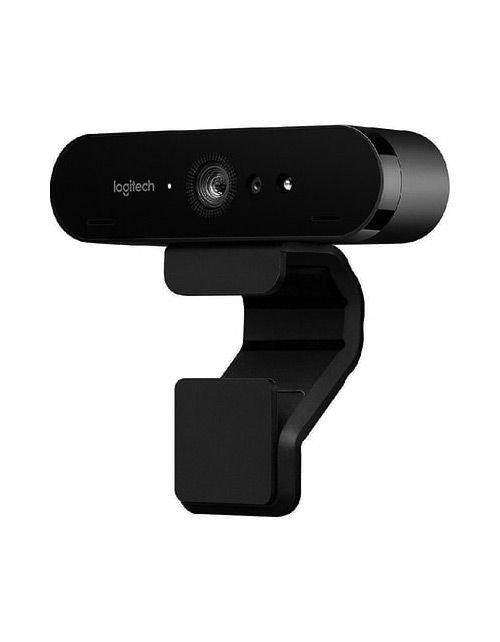 كاميرا ويب لوجيتك بريو 4K، زوم رقمي 5x، لون أسود