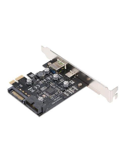 بطاقة توسعة PCIe يو اس بي سي من هنيتيكس، سرعة 5 جيجابت، لون أسود