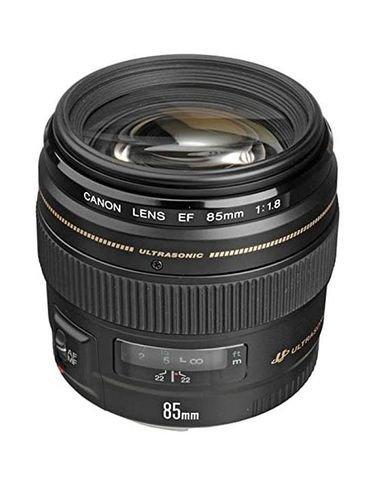 عدسة كاميرا كانون EF 85mm f/1.8 USM، متوافقة مع كاميرات EOS، لون أسود