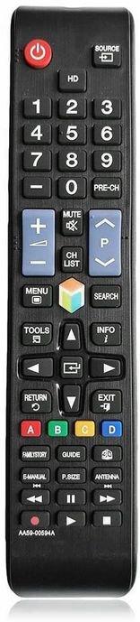 جهاز التحكم عن بعد سامسونج، يدعم شاشات سامسونج الذكية، زاوية إرسال فائقة الاتساع، أسود
