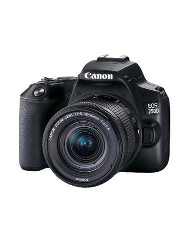كاميرا رقمية كانون EOS 250D، دقة 24.1 ميجابكسل، تصوير 4k، لون أسود