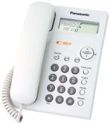 Panasonic Corded Phone, LCD Display for Caller ID, White