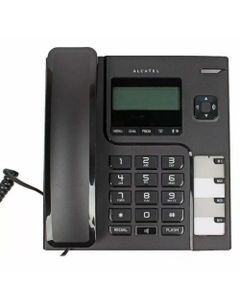 Alcatel Wired Phone, with Caller ID Screen, Black