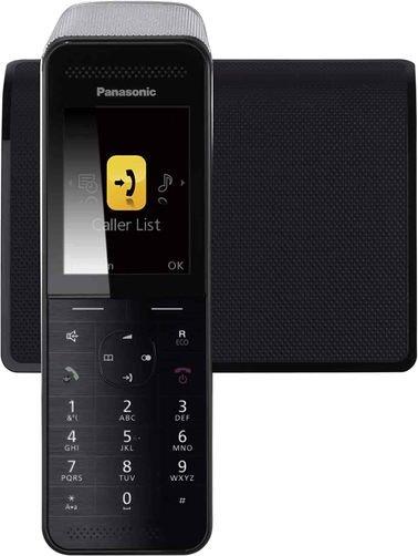 هاتف باناسونيك اللاسلكي الذكي، واي فاي، شاشة ملونة، أسود