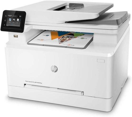 طابعة HP ليزرية شاملة متعددة الوظائف، طباعة ملونة، فاكس وسكنر وناسخة، واي فاي
