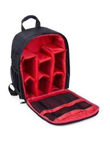 حقيبة كاميرا ظهر سوليدرتي، تدعم كاميرات SLR وDSLR، لون أسود