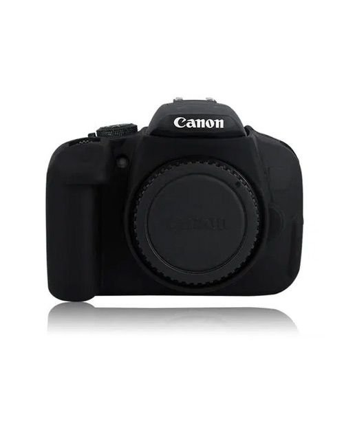 غطاء حماية كاميرا كانون، سليكون مطاطي، لون أسود
