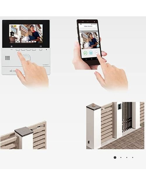 انتركوم باناسونيك فيديو، شاشة 5 بوصة، يدعم الإتصال مع الهاتف الذكي والرؤية ليلية
