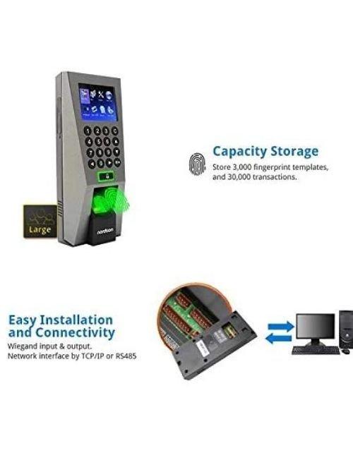 جهاز مراقبة الدوام بالبصمة زيد كيه تيكو، 3000 بصمة، 5000 كارت، شاشة LCD ملونة