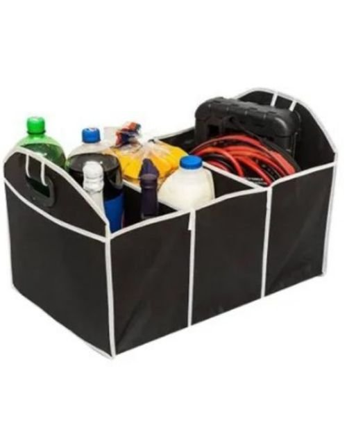 LP Car Boot Compartmental Organiser, Foldable, Black and White