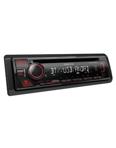 مسجلة كينوود للسيارة، بشاشة LCD، مشغل أقراص CD، بلوتوث مدمج، تحكم Spotify