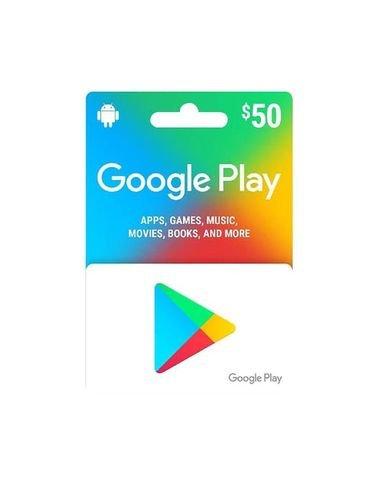 بطاقة جوجل بلاي 50 دولار أمريكي، المتجر الأمريكي، كود رقمي