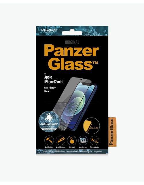 لصاقة حماية ايفون 12 ميني من PanzerGlass، طبقة مضادة للبكتيريا، حواف سوداء