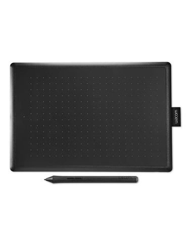 Wacom One Graphic Tablet, Medium, USB. Black and Red