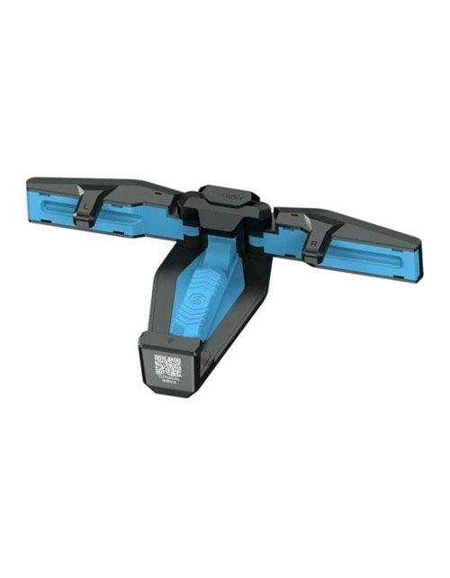 مقبض ألعاب للهاتف جيم سير فالكون F4، قابل للطي، لون أسود وأزرق