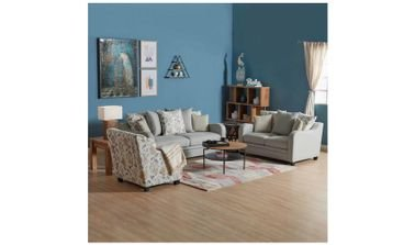 Kingsburry Sofa Set, 6 Seats, Fabric, Teal Green