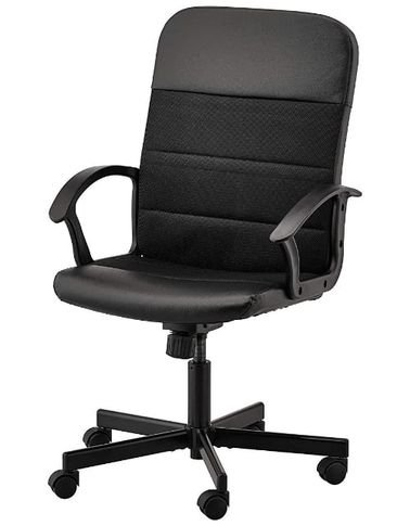 Office chair from Ikea, adjustable height swivel, black