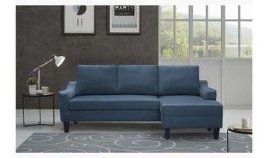 Sydney Right Corner Sofa Bed, 3 Seats, Fabric, Blue Color