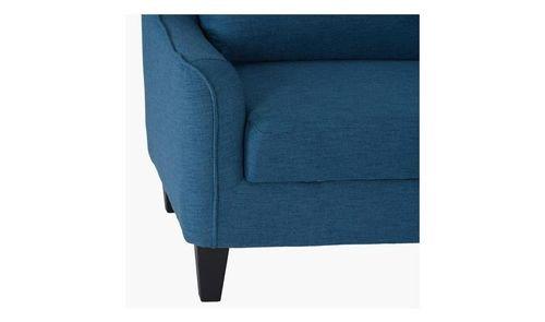كنبة زاوية يمينية من سيدني، قماش، 3 مقاعد، تتضمن سرير، لون أزرق