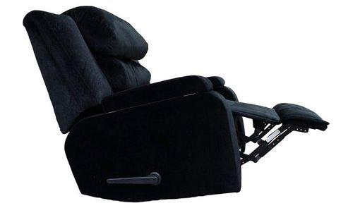 كرسي استرخاء ريغال إن هاوس، حاوية للتخزين، وسائد متحركة، لون أسود