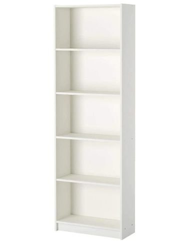 Ikea office book and files cabinet, wooden, white color