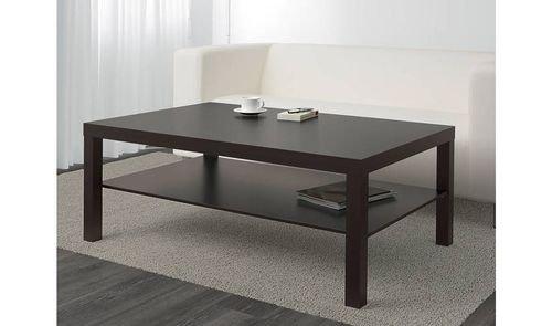طاولة قهوة أيكيا لاك، خشب مضغوط، أسود-بني